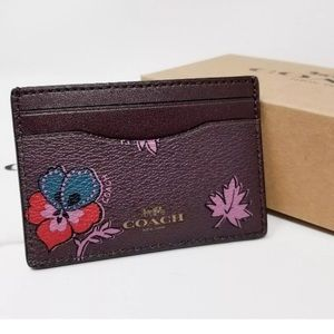 Authentic COACH Leather Coated Credit card holder.
